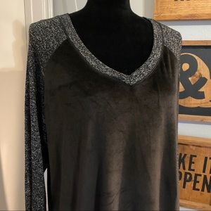 Climate Right Black Grey Long Sleeve Soft Shirt